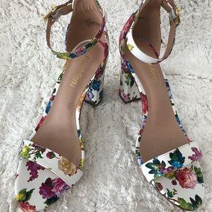 Madden floral strappy heels